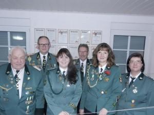 von links: Joachim Flindt, Wilfried Diekjobst, Martina Haffner, Otto Evers, Carmen Loelf, Dörthe Sander